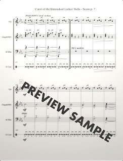 Carol of the Barenaked Ladies' Bells - Score p. 7